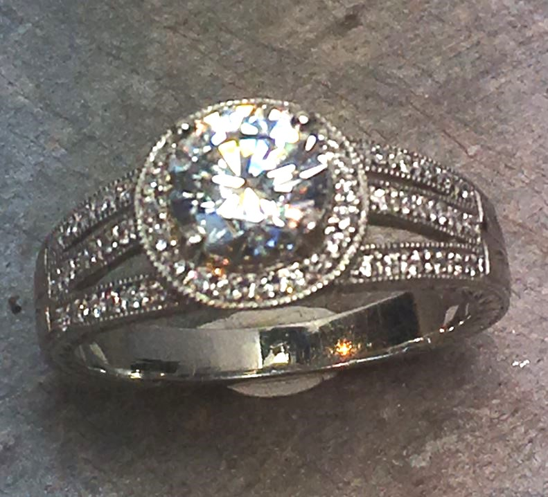 Engagement Ring by Antique Jewelry Designs